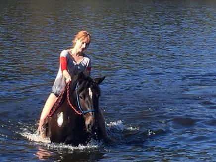 Tessa horseback riding